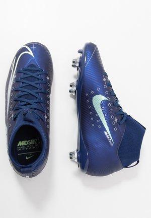 MERCURIAL JR 7 ACADEMY SG - Voetbalschoenen met kunststof noppen - blue void/metalic silver/white/black