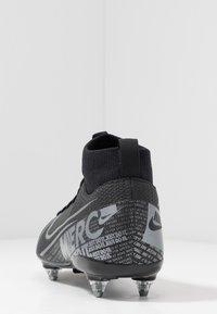 Nike Performance - MERCURIAL JR 7 ACADEMY SG - Voetbalschoenen met kunststof noppen - black/metallic cool grey/cool grey - 4