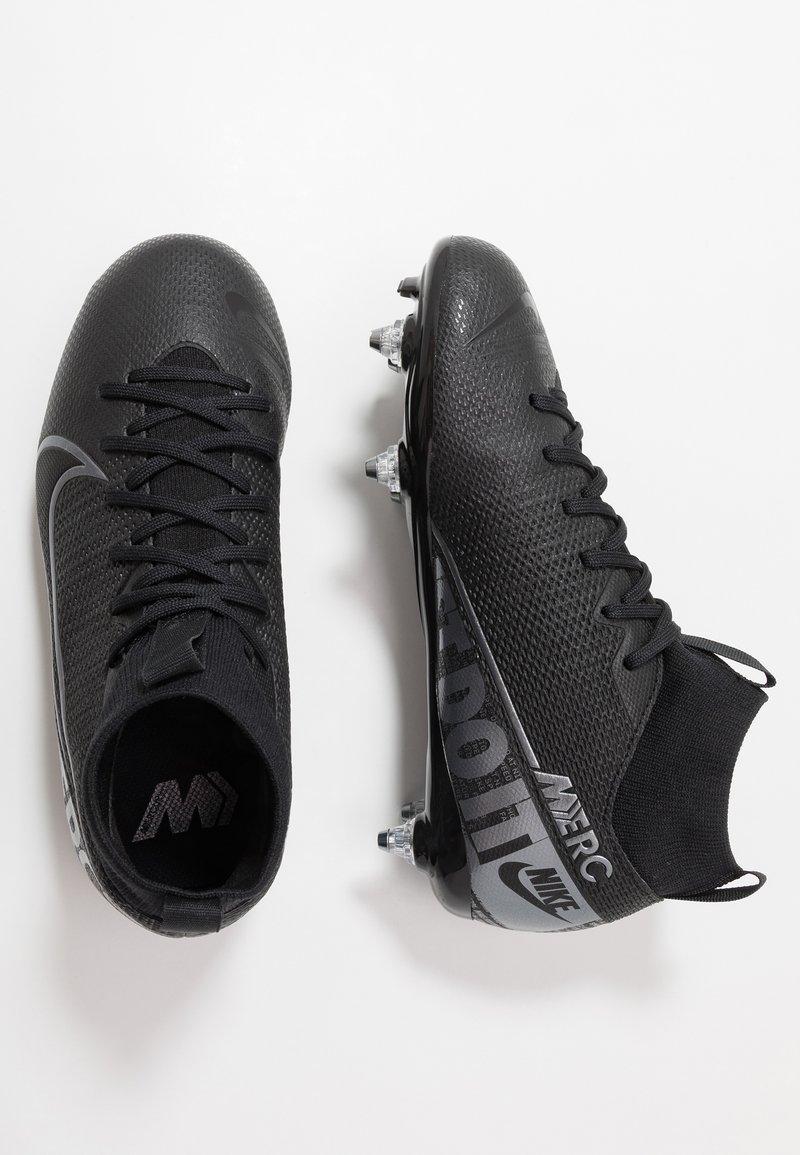 Nike Performance - MERCURIAL JR 7 ACADEMY SG - Korki Lanki - black/metallic cool grey/cool grey