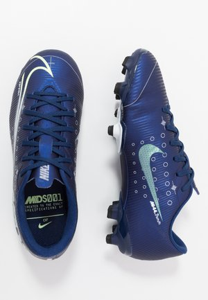 MERCURIAL VAPOR 13 ACADEMY FG/MG - Scarpe da calcetto con tacchetti - blue void/metallic silver/white/black