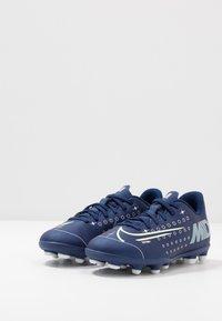 Nike Performance - MERCURIAL VAPOR 13 CLUB FG/MG - Voetbalschoenen met kunststof noppen - blue void/metallic silver - 3