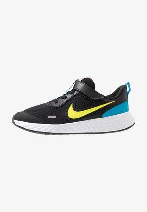 REVOLUTION 5 - Neutral running shoes - black/lemon/laser blue/hyper crimson/white