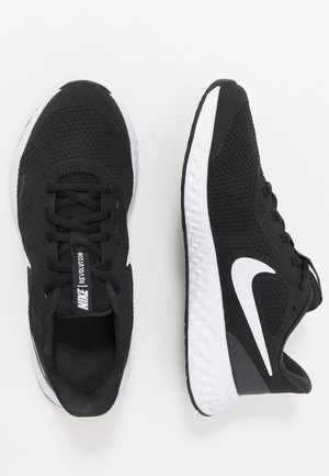 NIKE REVOLUTION 5 GS - Neutral running shoes - black/white/anthracite
