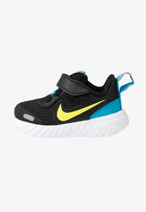 REVOLUTION 5 - Zapatillas de running neutras - black/lemon/laser blue/hyper crimson