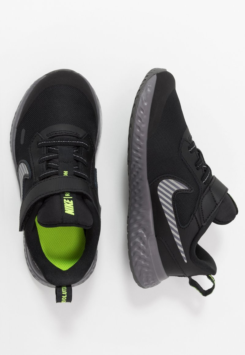 Nike Performance - REVOLUTION 5 - Neutral running shoes - black/reflect silver/gunsmoke/volt