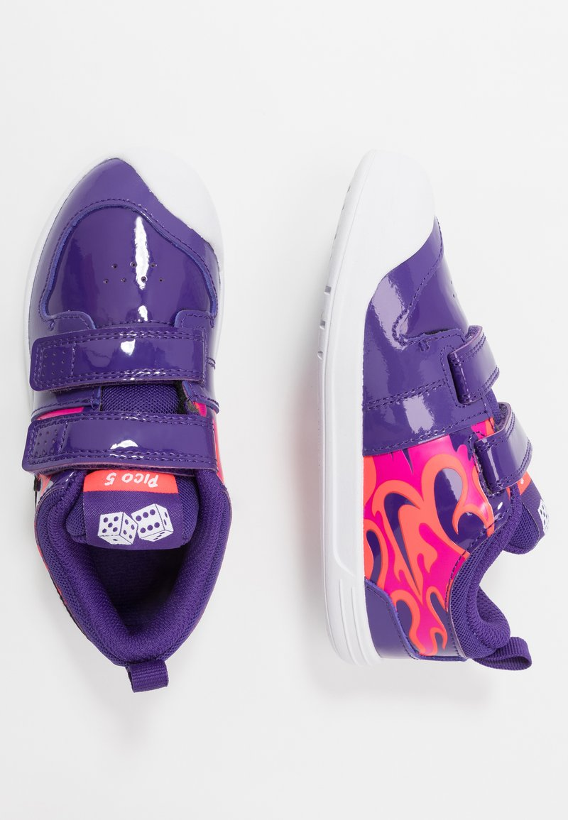 Nike Performance - PICO 5 AUTO - Trainings-/Fitnessschuh - court purple/black/laser crimson/fire pink