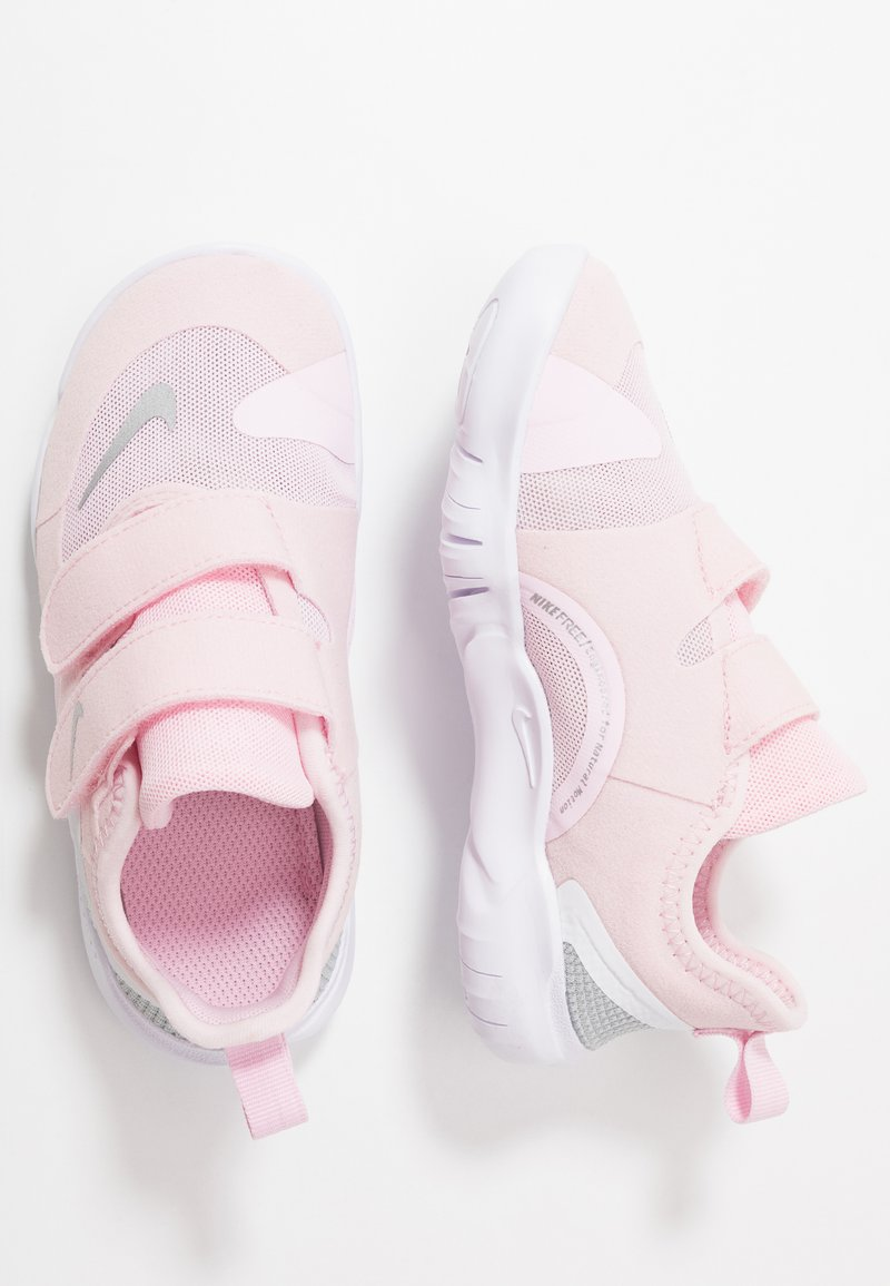 Nike Performance - FREE RN - Neutral running shoes - pink foam/metallic silver/wolf grey