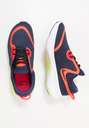 JOYRIDE DUAL RUN - Neutral running shoes - midnight navy/black/hyper crimson/laser crimson/barely volt/diffused blue