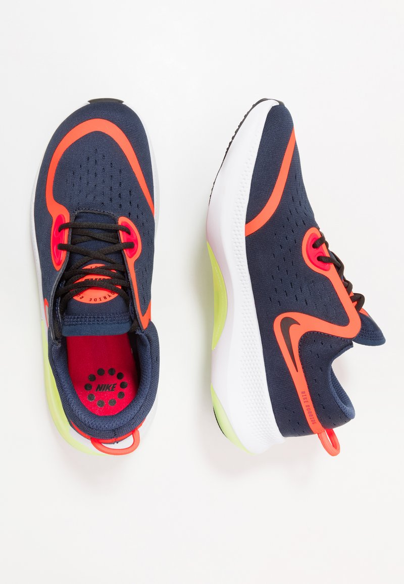 Nike Performance - JOYRIDE DUAL RUN - Obuwie do biegania treningowe - midnight navy/black/hyper crimson/laser crimson/barely volt/diffused blue