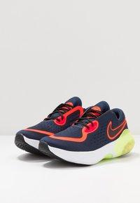 Nike Performance - JOYRIDE DUAL RUN - Obuwie do biegania treningowe - midnight navy/black/hyper crimson/laser crimson/barely volt/diffused blue - 3