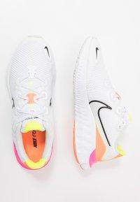 Nike Performance - RENEW RUN - Hardloopschoenen neutraal - white/black/platinum tint/pink blast/lemon/total orange - 0