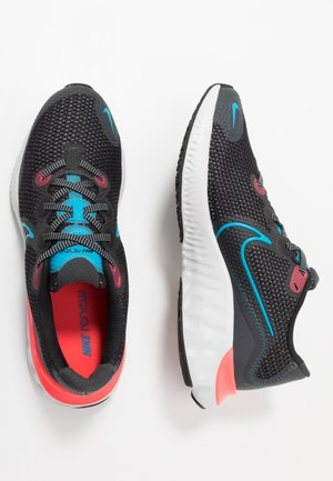 RENEW RUN - Hardloopschoenen neutraal - black/light lime/smoke grey/light smoke grey/laser crimson