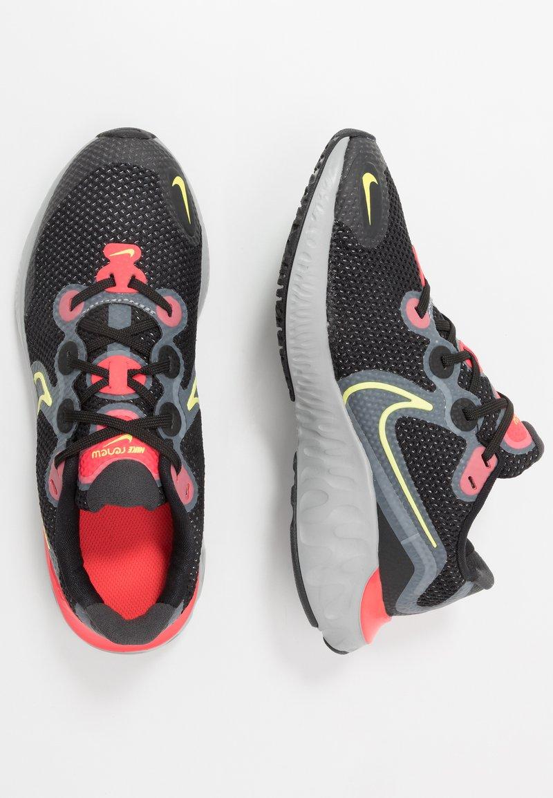Nike Performance - RENEW RUN - Hardloopschoenen neutraal - black/light lime/smoke grey/light smoke grey/laser crimson
