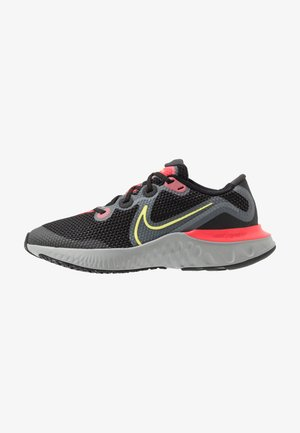 RENEW RUN - Neutral running shoes - black/light lime/smoke grey/light smoke grey/laser crimson