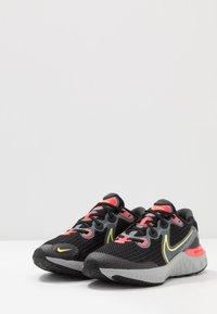 Nike Performance - RENEW RUN - Hardloopschoenen neutraal - black/light lime/smoke grey/light smoke grey/laser crimson - 3