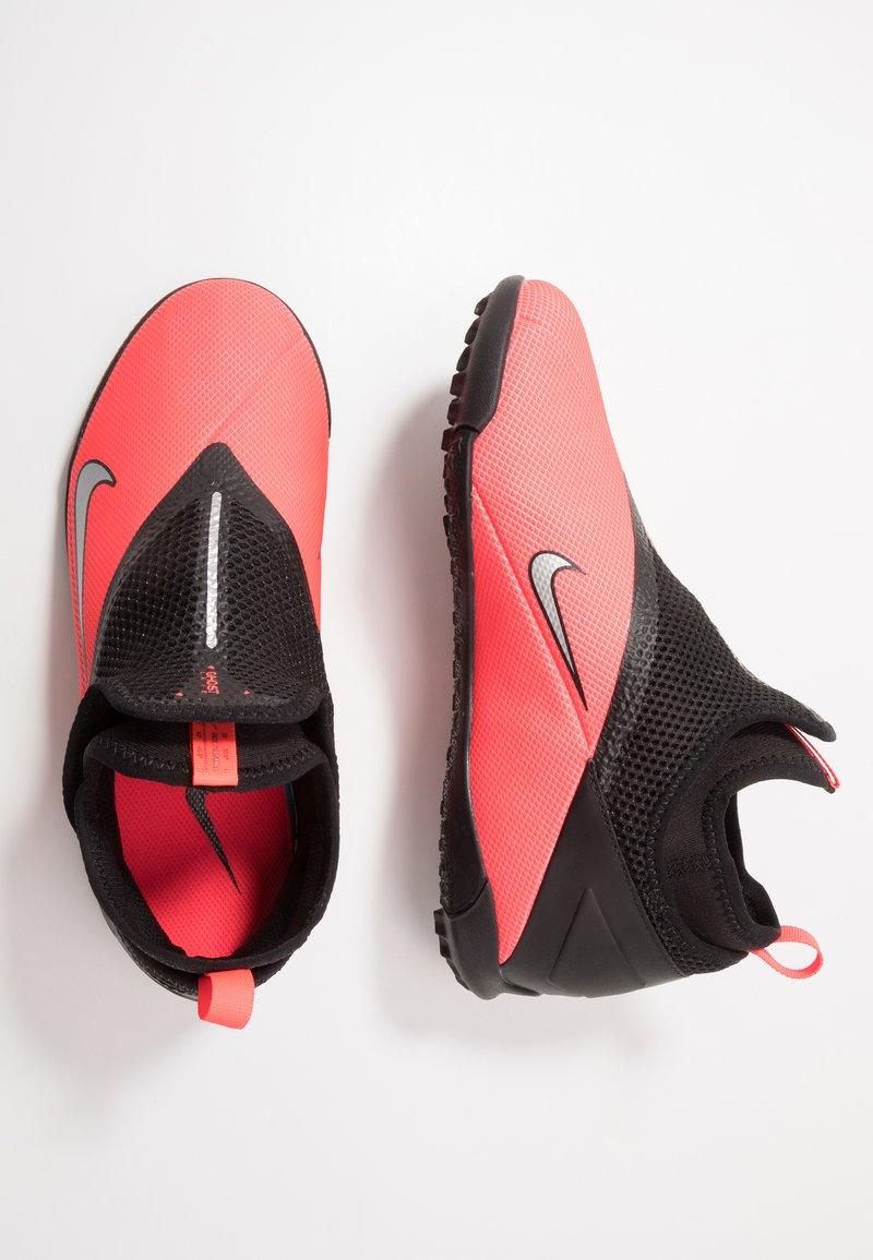 Nike Performance - PHANTOM VISION 2 ACADEMY TF - Kopačky na umělý trávník - laser crimson/metallic silver/black