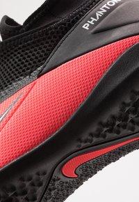 Nike Performance - PHANTOM VISION 2 ACADEMY TF - Kopačky na umělý trávník - laser crimson/metallic silver/black - 2