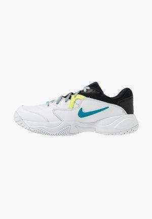 COURT LITE 2 - Kengät kaikille alustoille - white/neo turquoise/hot lime/light smoke grey