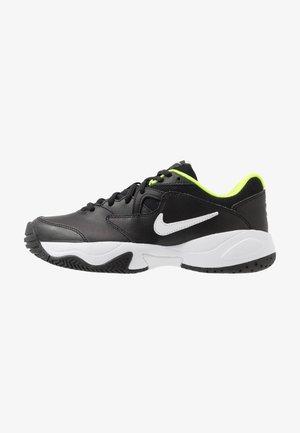 COURT LITE 2 - Buty tenisowe uniwersalne - black/white/volt