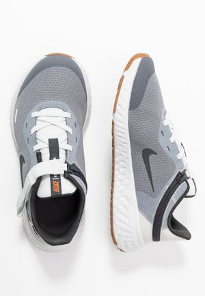 REVOLUTION 5 FLYEASE - Neutral running shoes - light smoke grey/dark smoke grey/photon dust/medium brown