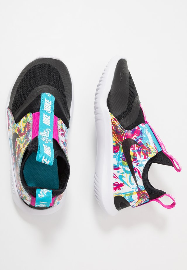 FLEX RUNNER FABLE GP - Neutrala löparskor - black/white/fire pink/blue fury