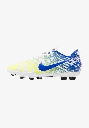 VAPOR 13 CLUB NEYMAR FG/MG - Moulded stud football boots - white/racer blue/volt/black
