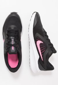 Nike Performance - DOWNSHIFTER 10 - Hardloopschoenen neutraal - black/pink glow/anthracite/white - 0