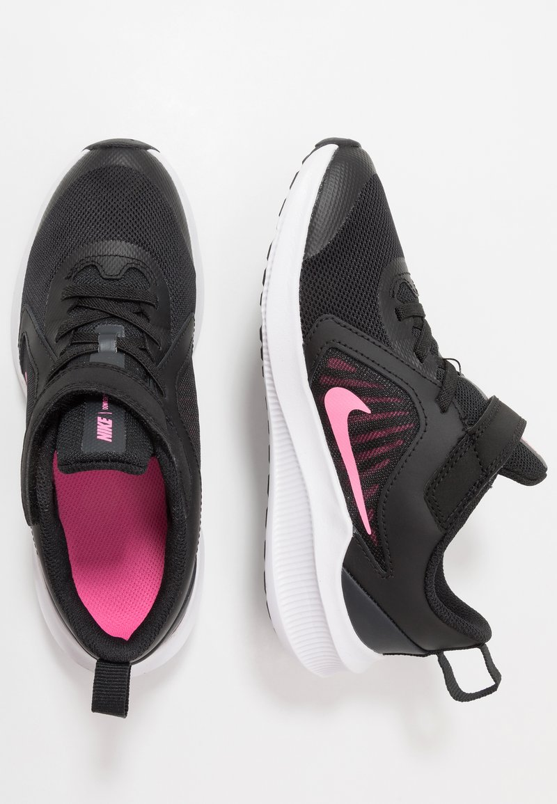 Nike Performance - DOWNSHIFTER 10 - Obuwie do biegania treningowe - black/pink glow/anthracite/white