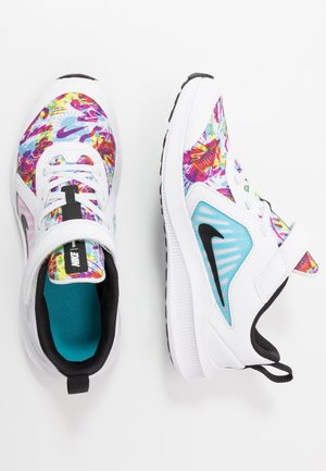 DOWNSHIFTER 10 FABLE - Chaussures de running neutres - white/black/fire pink/blue fury