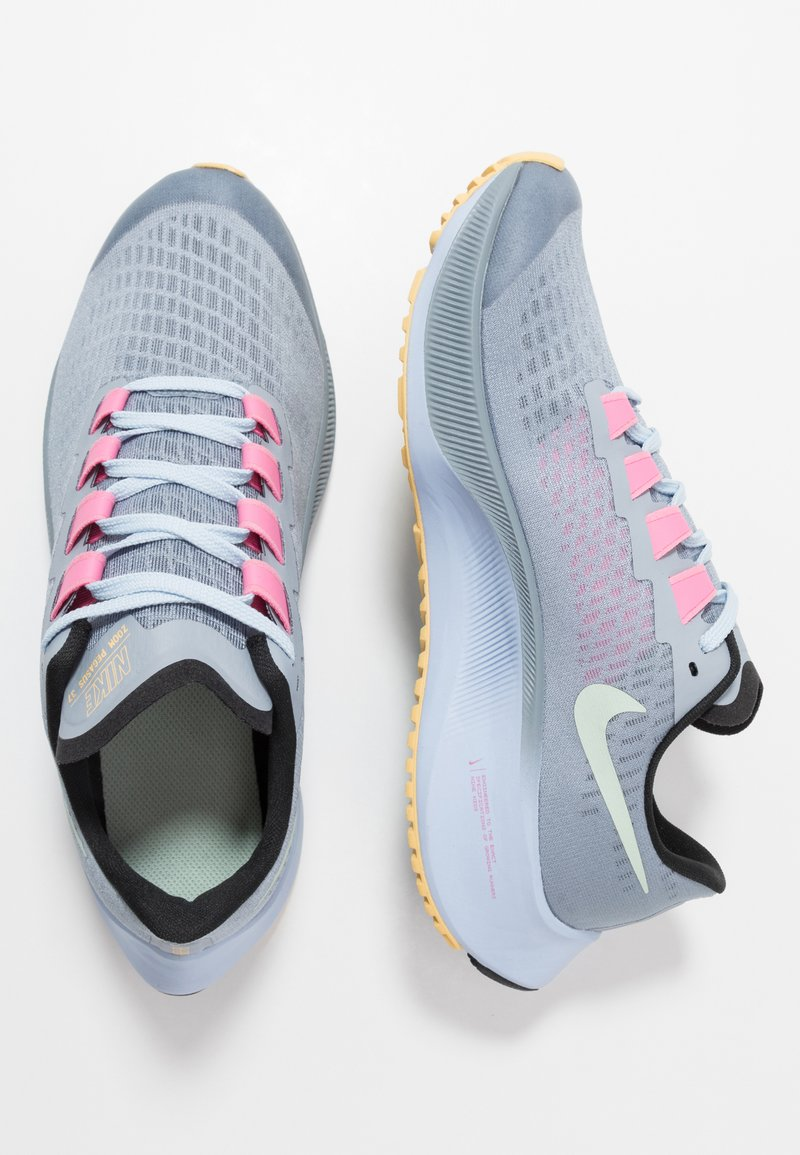 Nike Performance - AIR ZOOM PEGASUS 37  - Zapatillas de running neutras - obsidian mist/hydrogen blue/black/lotus pink