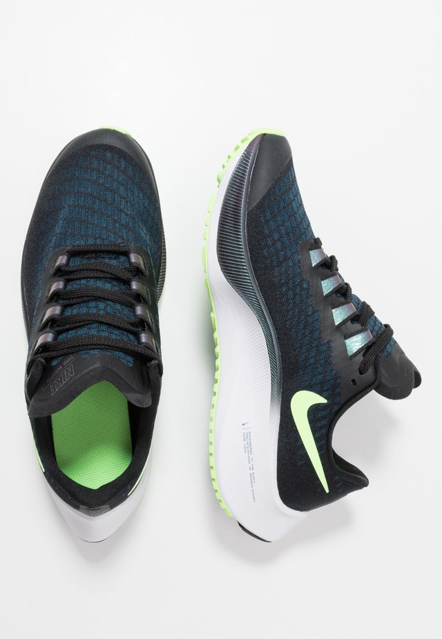 AIR ZOOM PEGASUS 37  - Neutral running shoes - black/ghost green/valerian blue/spruce aura