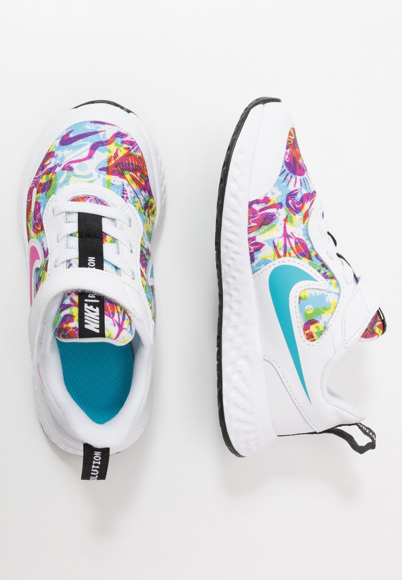 Nike Performance - REVOLUTION 5 FABLE - Neutral running shoes - white/fire pink/blue fury