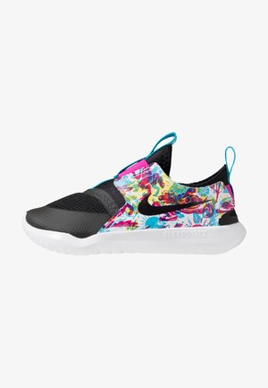 FLEX RUNNER FABLE - Scarpe running neutre - black/white/fire pink/blue fury