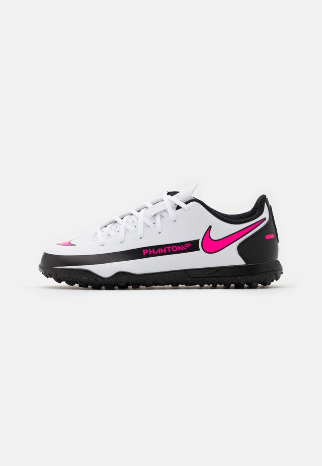 JR PHANTOM GT CLUB TF UNISEX - Scarpe da calcetto con tacchetti - white/pink blast/black