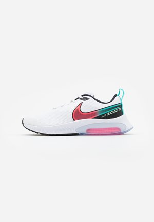 AIR ZOOM ARCADIA - Chaussures de running neutres - white/flash crimson/hyper jade/black/vapor green