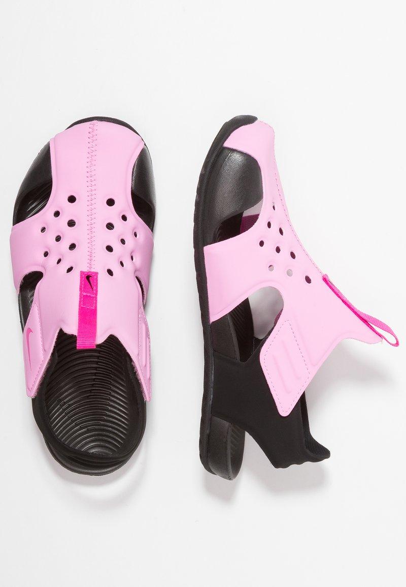 Nike Performance - SUNRAY PROTECT  - Sandały kąpielowe - psychic pink/laser fuchsia/black