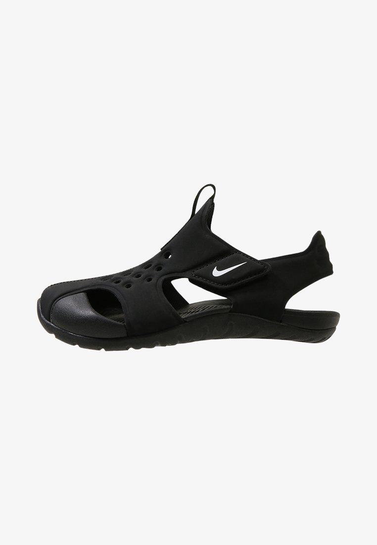 Nike Performance - SUNRAY PROTECT  - Pool slides - black/white