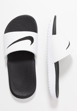 KAWA SLIDE - Badslippers - white/black