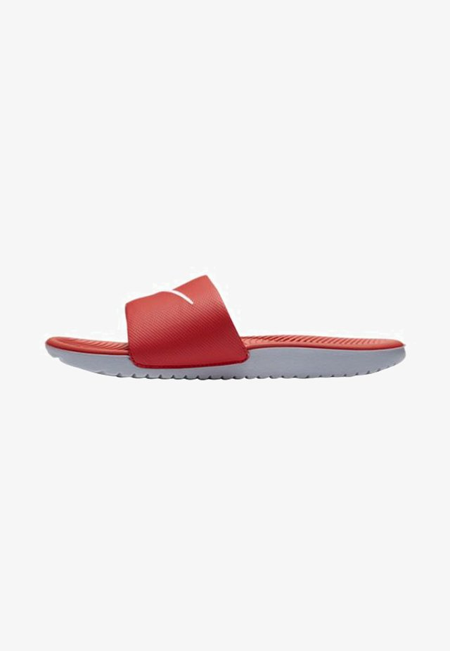 KAWA SLIDE - Chanclas de baño - university red/white