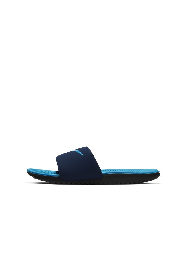 KAWA SLIDE - Badesandaler - midnight navy/laser blue-black