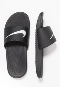 Nike Performance - KAWA SLIDE - Sandales de bain - black/white - 0