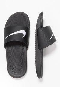 Nike Performance - KAWA SLIDE - Rantasandaalit - black/white - 0