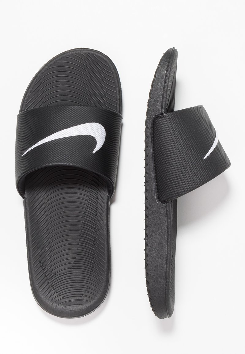 Nike Performance - KAWA SLIDE - Sandales de bain - black/white