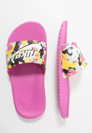 KAWA SLIDE SE - Chanclas de baño - cosmic fuchsia/white/emerald rise/speed yellow