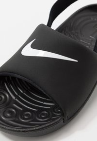 Nike Performance - KAWA SLIDE - Rantasandaalit - black/white - 2