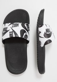 Nike Performance - KAWA SLIDE  - Pool slides - white/black - 0