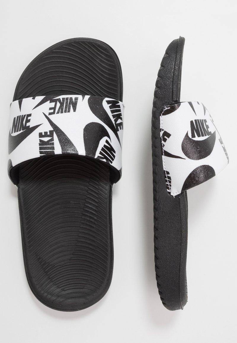 Nike Performance - KAWA SLIDE  - Pool slides - white/black