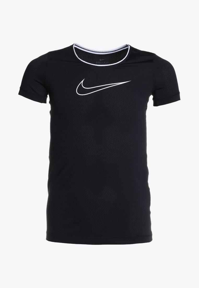Nike Performance - T-shirts print - black/black/white