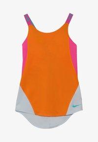 Nike Performance - DRY TANK - Funkční triko - orange peel/laser fuchsia/pure platinum - 3