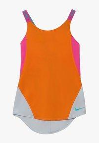 Nike Performance - DRY TANK - Funkční triko - orange peel/laser fuchsia/pure platinum - 0